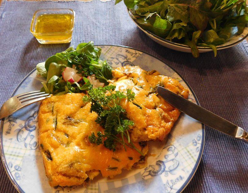 Frittata met Champignons en Kaas