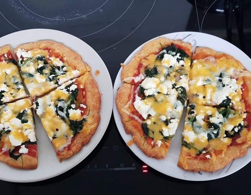 Spinazie met Feta Pizza