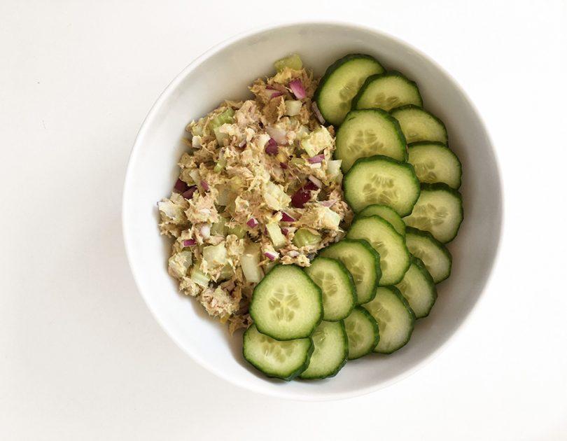 Tonijnsalade met Komkommer