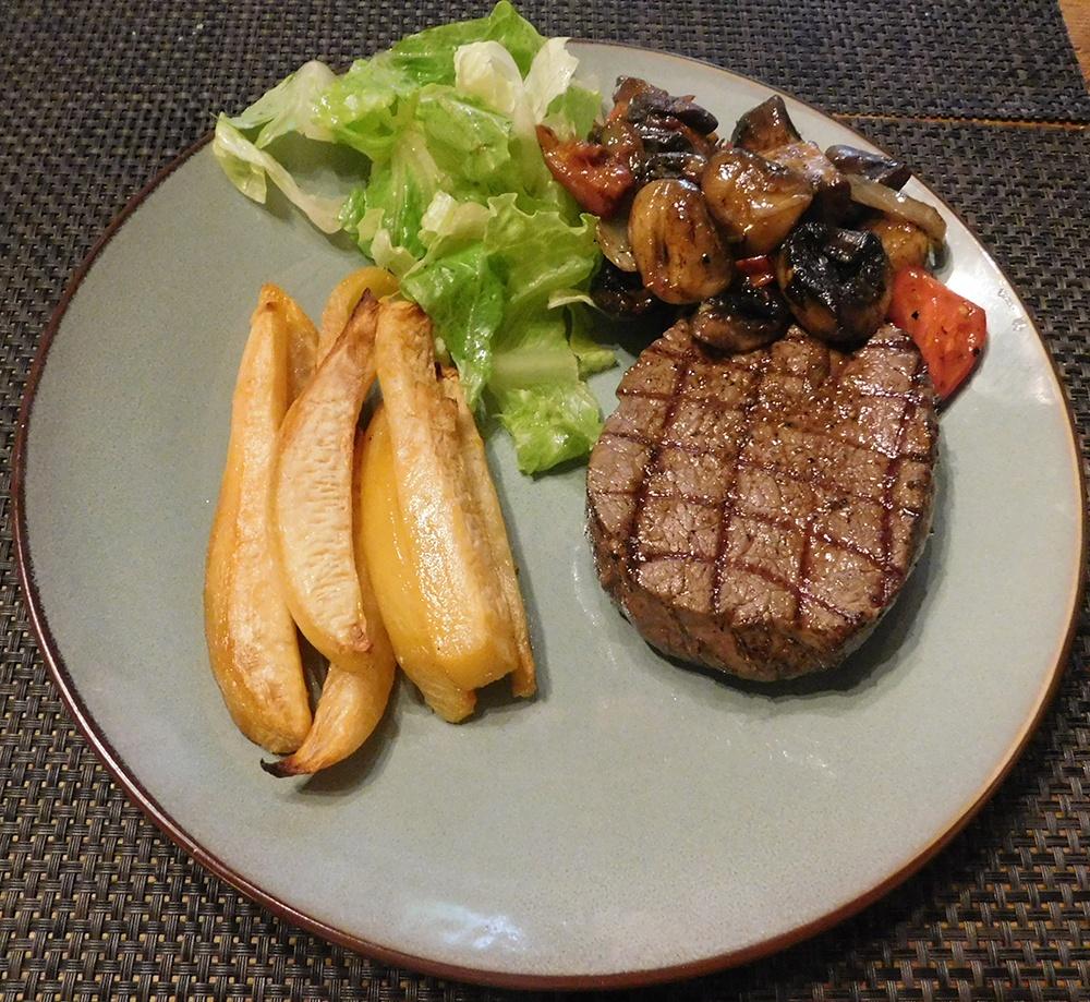 Koolraapfrietjes met Steak