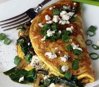 Spinazie en Geitenkaas Omelet