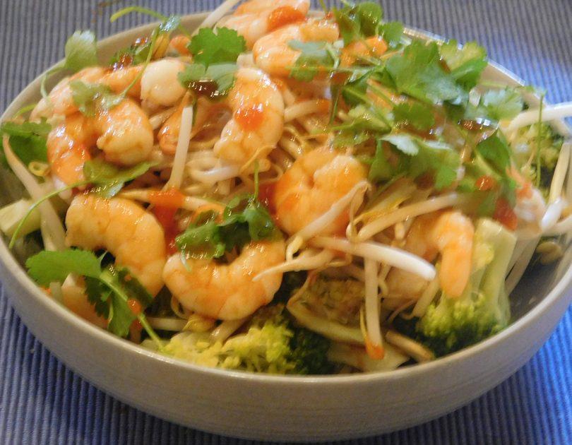 Salade met Garnalen in Aziatische Stijl