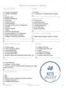 Keto Weekmenu Gratis Voedingswaardetabel Ketovoor Beginners Boek Nederland België